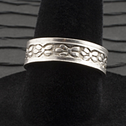 Vintage Sterling Silver Engraved Band