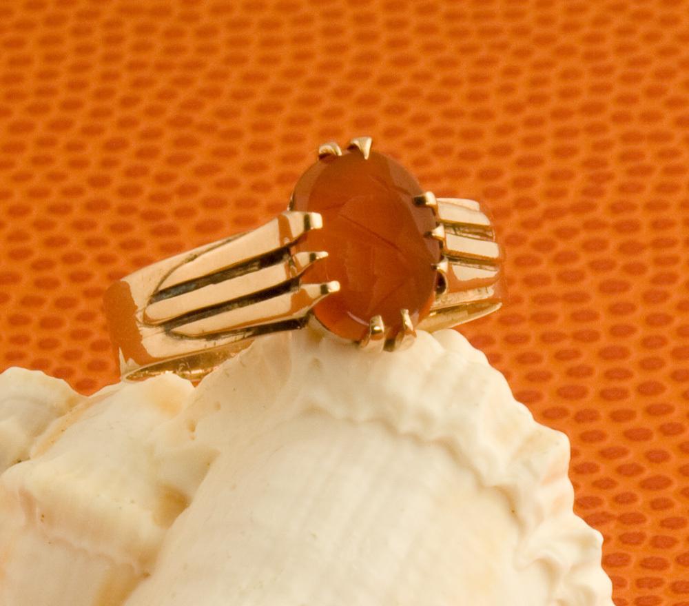 Antique Victorian Carnelian Intaglio Ring