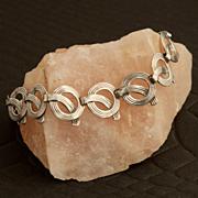 Vintage Beau Sterling Silver Mod Bracelet