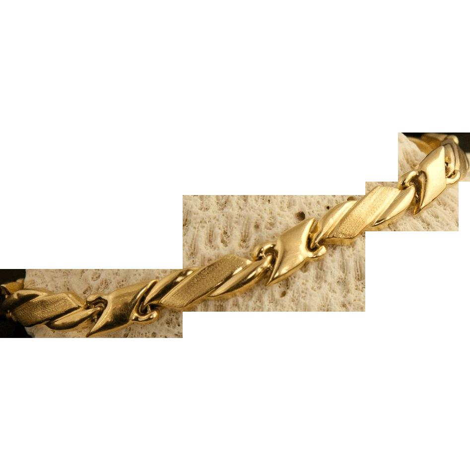 vintage 14 karat gold bracelet from 24kgreen on ruby