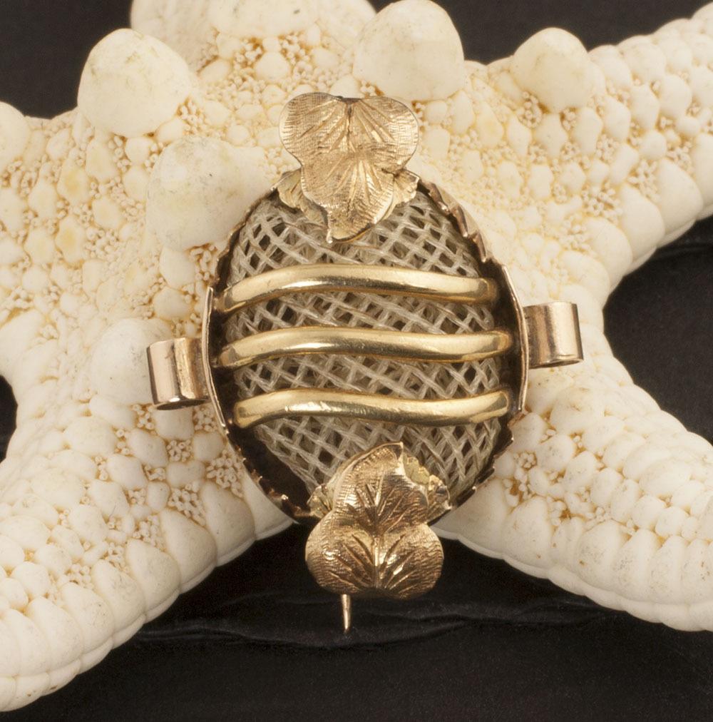 Antique Victorian 14 Karat Gold Hair Jewelry Pin