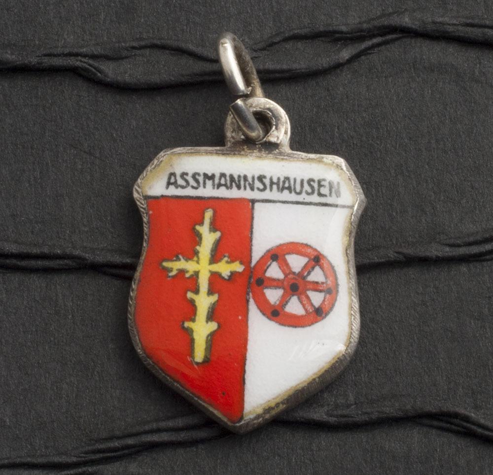 Vintage German 800 Silver Coat Of Arms Enamel Charm