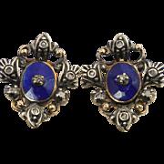 Antique Georgian 18 Karat Gold Enamel And Diamond Earrings