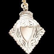 Antique Sterling Silver Charm, Birmingham England 1912 Hallmark