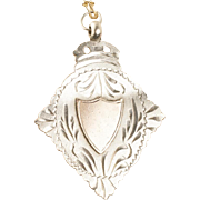 Antique Sterling Silver Charm Necklace, Birmingham England 1912 Hallmark