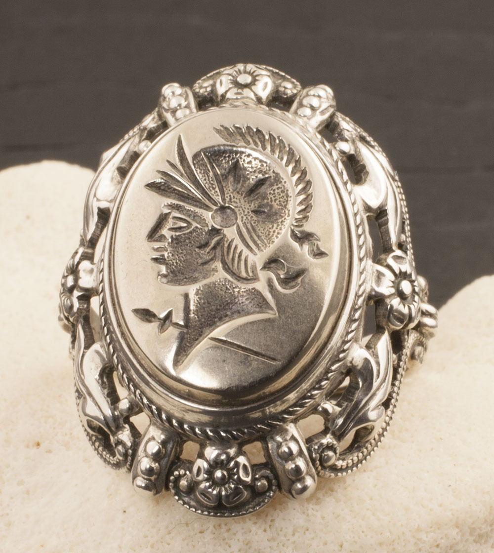 Vintage Sterling Silver Intaglio Ring