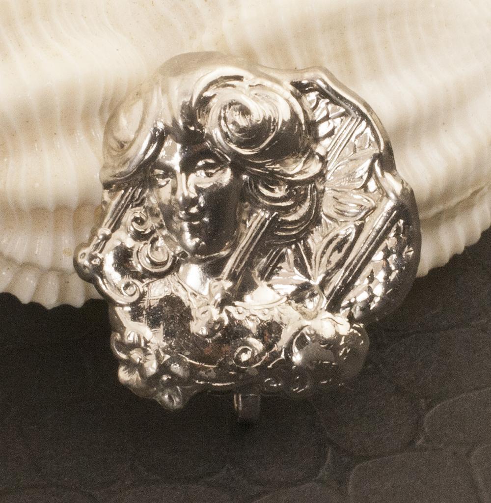 Vintage Sterling Silver Art Nouveau Revival Pin