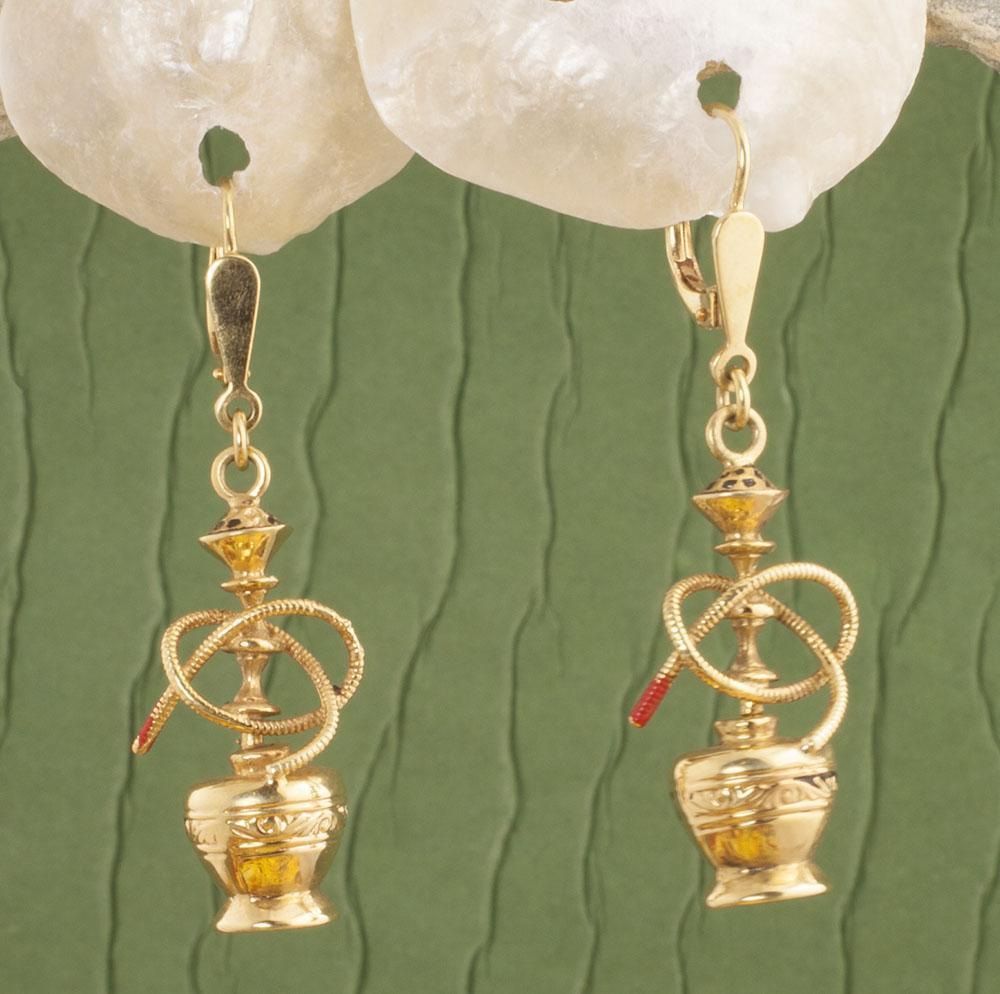 Vintage 14 Karat Gold Hooka Earrings
