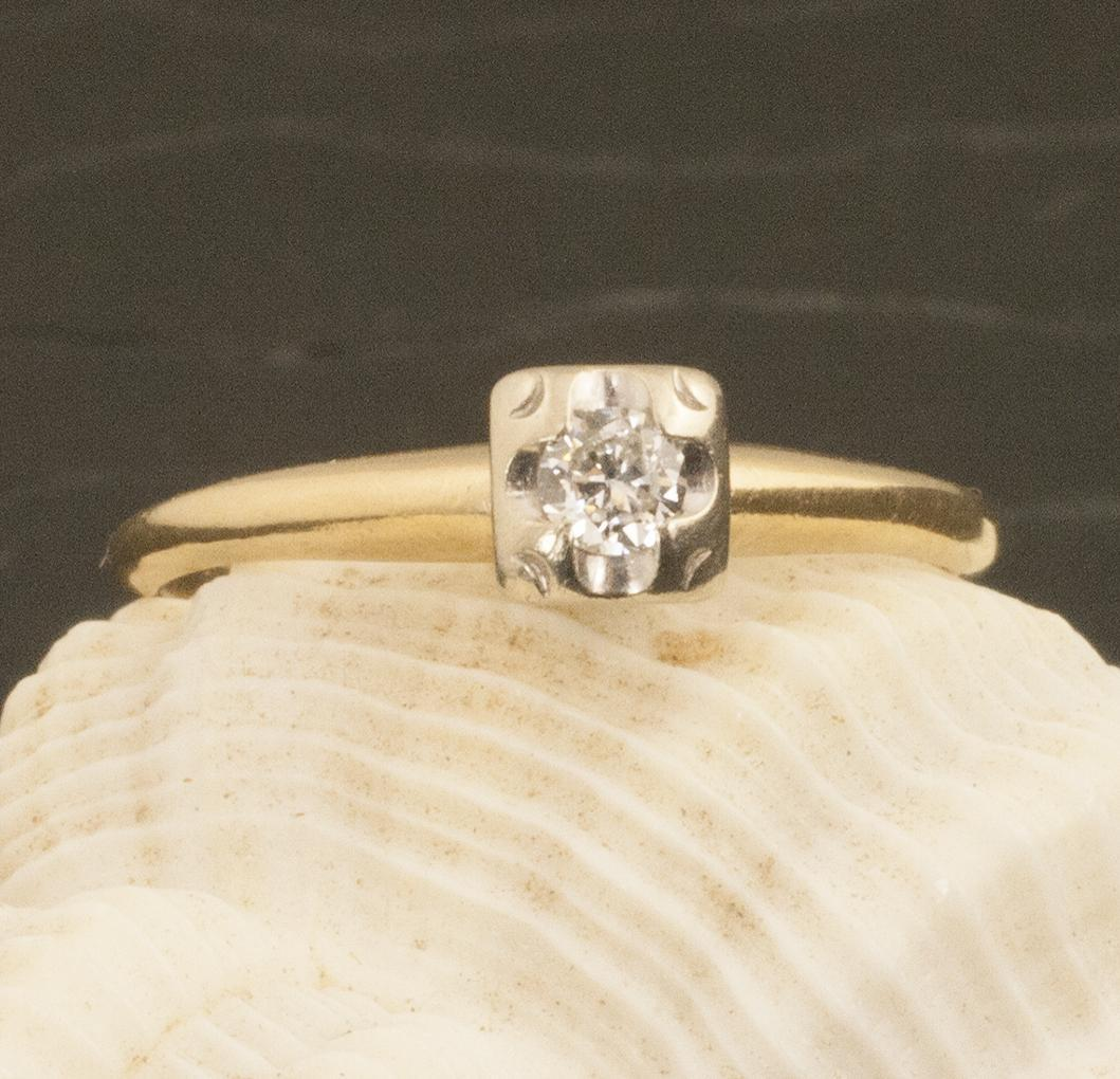 Vintage 14 Karat Gold Diamond Ring from 24kgreen on Ruby Lane