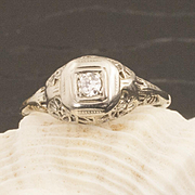Antique Edwardian 18 Karat Gold Diamond Ring