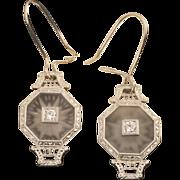 Vintage Art Deco Diamond Earrings