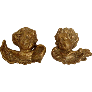 Italian Florentine Gold Gilt Florentia Angels Exquisitely Hand Made