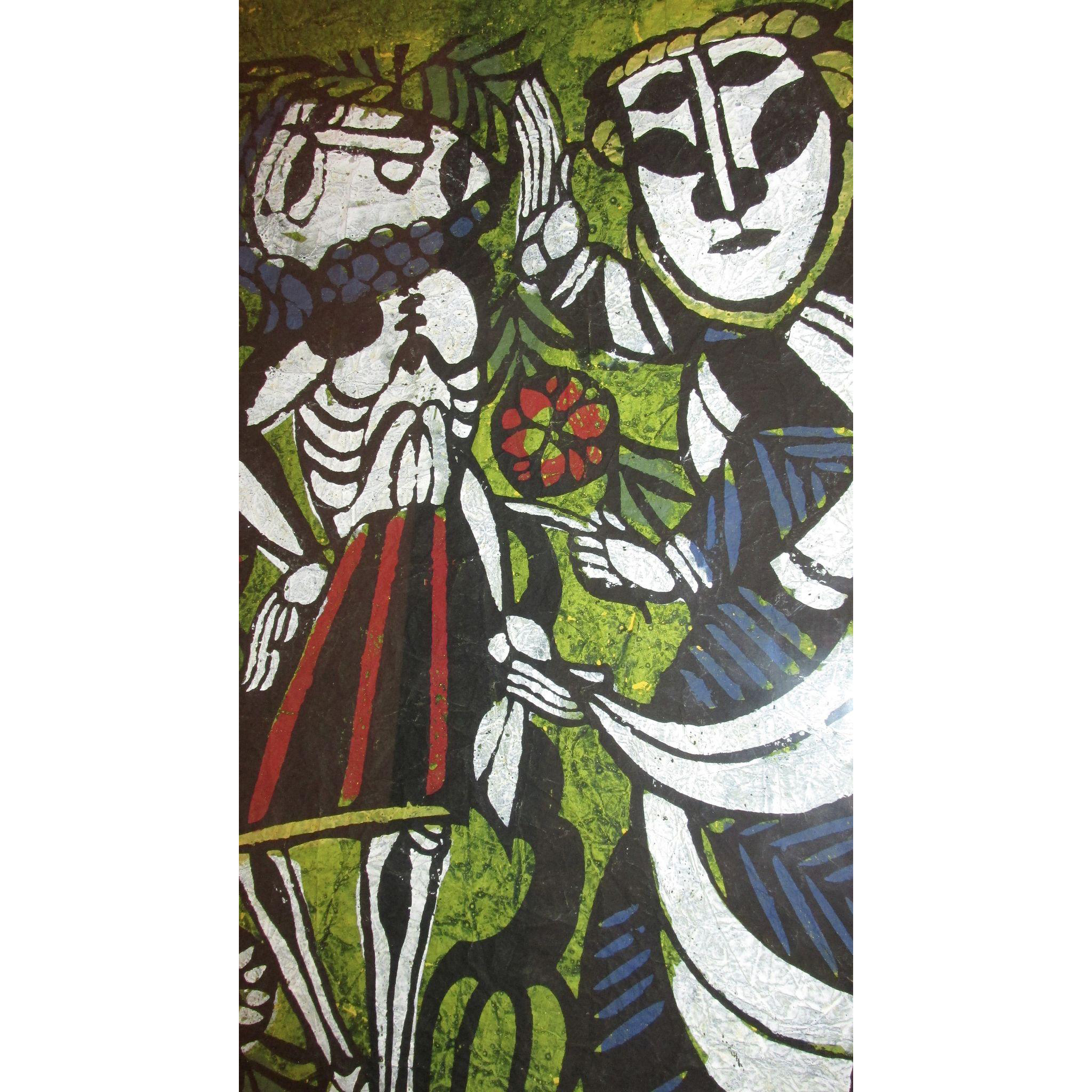 Sadao Watanabe - Jacob Wrestling the Angel - Limited Edition Japanese Christian Gospel Print Artist Signed Numbered 50/50 & Dated 1964