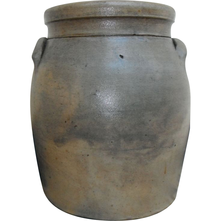 Early Texas Stoneware Crock - Churn Durham (Wilson) Pottery Guadalupe County