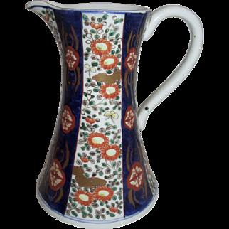Meiji Period Imari Hand Painted Japanese Carafe Pitcher