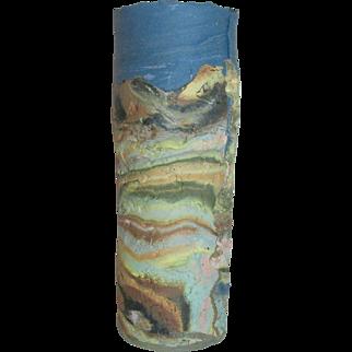 Vintage New Mexico Art Pottery Southwestern Textured Vase - J Cornelius Dixon, NM