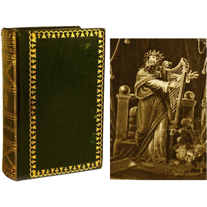"Antique Nineteenth Century French Binding ""Les Psaumes de David"" circa 1817"