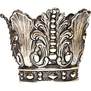 Antique Nineteenth Century Silver Plate Santos Crown
