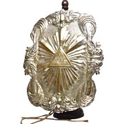 Rare Antique Nineteenth Century French Silver Plate and Vermeil Plaque