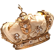 RARE Antique Nineteenth Century French Gilded Bronze Couronne Royale, Royal Santos Crown
