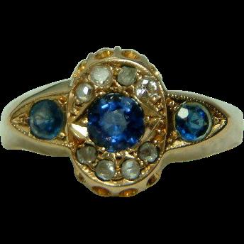 Ornate antique birmingham 1915 18ct gold diamond for Sell jewelry birmingham al
