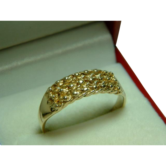 Attractive Vintage 9ct Gold Keeper Knot or Guard Ring from