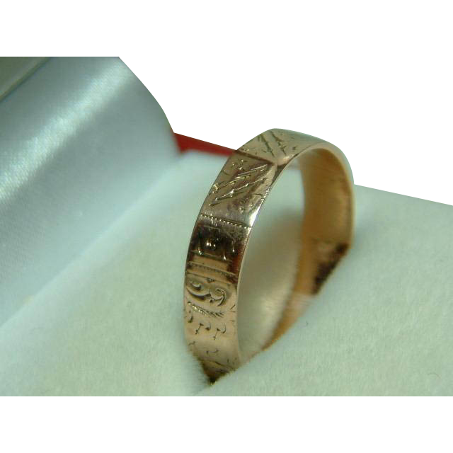 black wedding rings for her decorative engraved chester 1882 9ct gold 1882