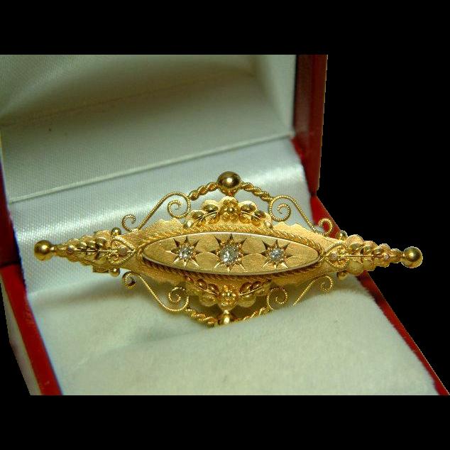Decorative victorian birmingham 1899 15ct gold diamond for Sell jewelry birmingham al