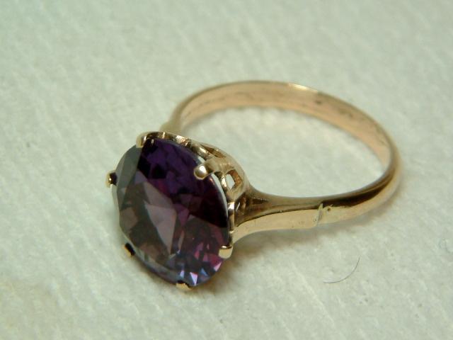 vibrant antique 9ct gold alexandrite gemstone solitaire
