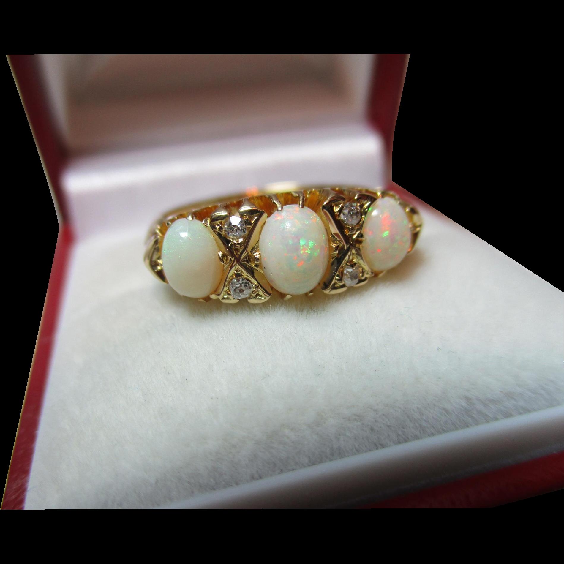 Superb birmingham 1919 18ct solid gold 7 stone diamond for Sell jewelry birmingham al