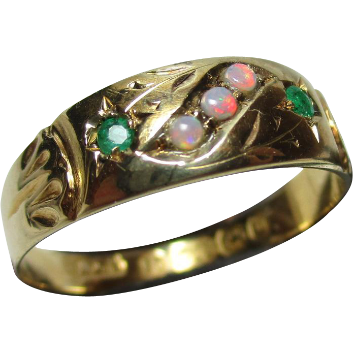 Attractive victorian birmingham 1895 15ct gold 5 stone for Sell jewelry birmingham al