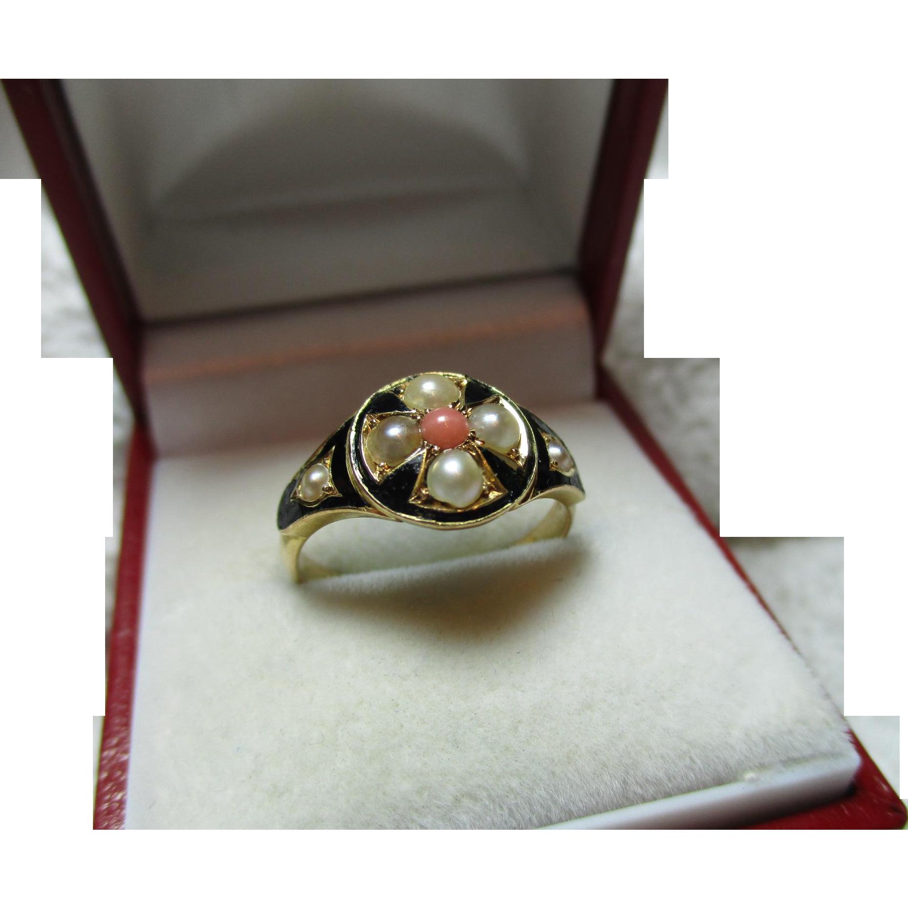Exquisite victorian birmingham 1872 18ct solid gold black for Sell jewelry birmingham al