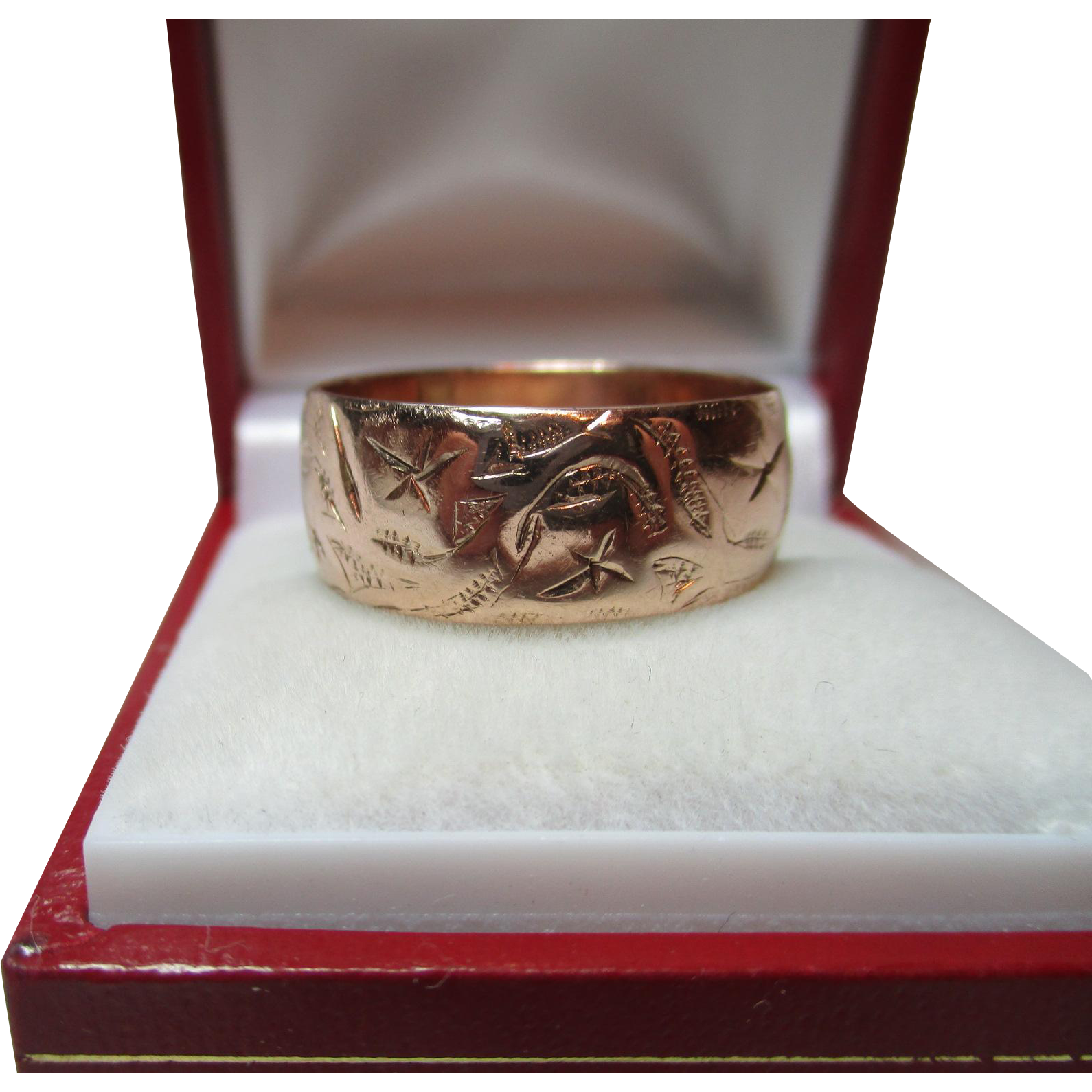 Decorative antique birmingham 1911 9ct solid rose gold for Sell jewelry birmingham al