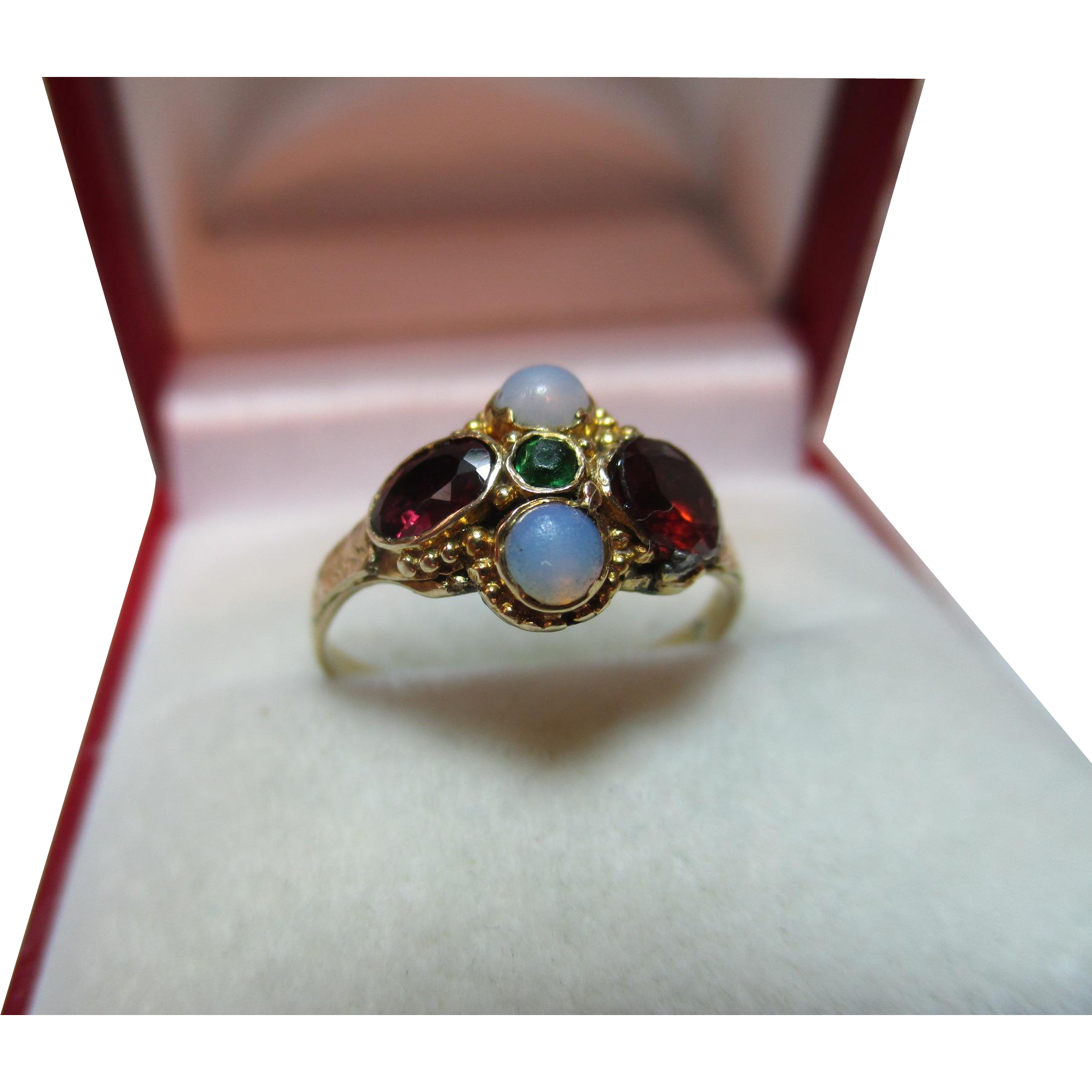 Pretty mid victorian birmingham 1866 9ct gold emerald for Sell jewelry birmingham al
