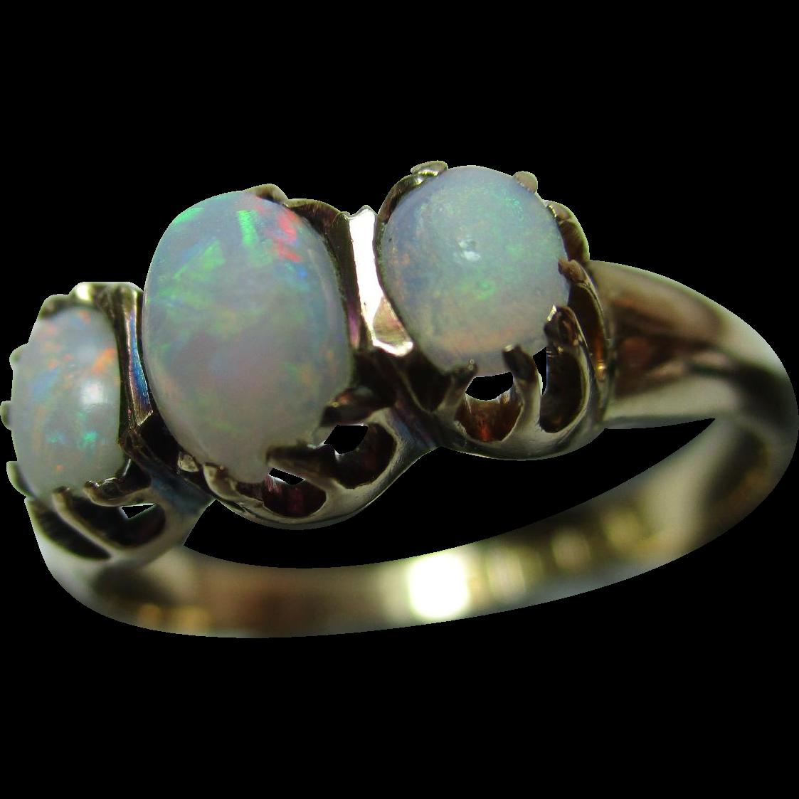 Pretty edwardian birmingham 1903 18ct solid gold 3 stone for Sell jewelry birmingham al