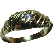 Decorative Antique 9ct Solid Gold Moonstone Solitaire Gemstone Ring.