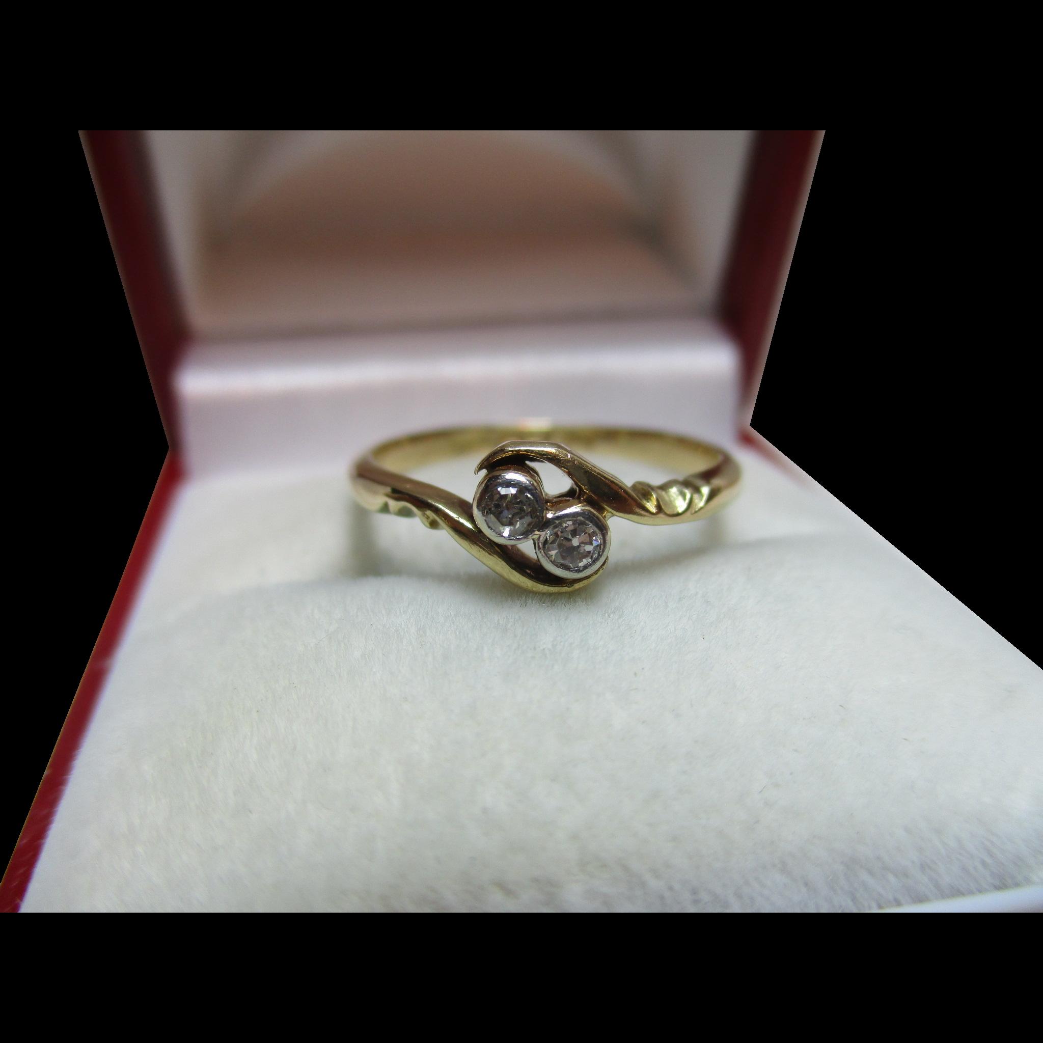 Attractive birmingham 1925 18ct gold diamond gemstone for Sell jewelry birmingham al