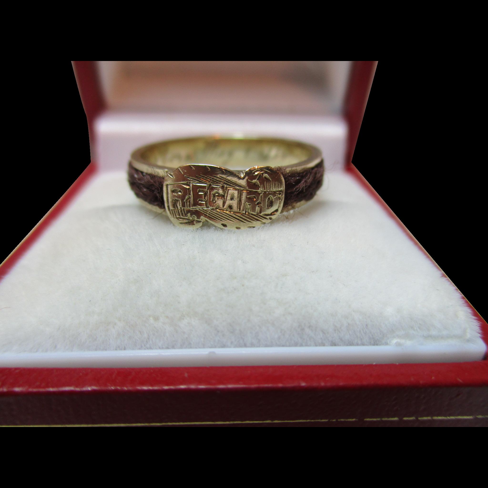 Victorian Gold 'REGARD' Memorial Ring