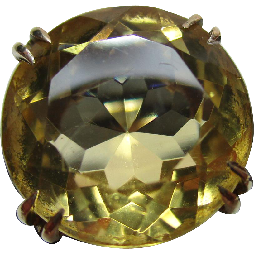 Vibrant 9ct Solid Gold Circular Shaped Citrine Gemstone Ring{4.9 Grams}