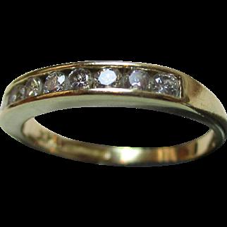Quality 18ct Solid Gold 9-Stone Diamond Gemstone 'Half Eternity' Ring{0.3Ct Diamond Weight}