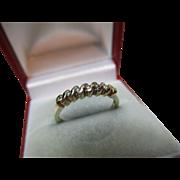 Pretty 9ct Solid Gold 7-Stone Diamond Gemstone 'Half Eternity' Ring