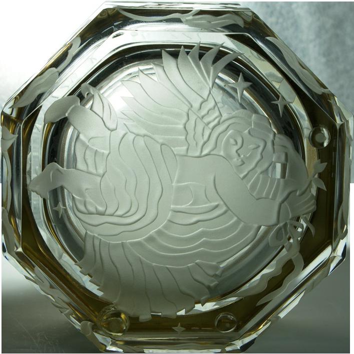 Marialyce Hawke Signed Intaglio Glass Jewelery Casket Box