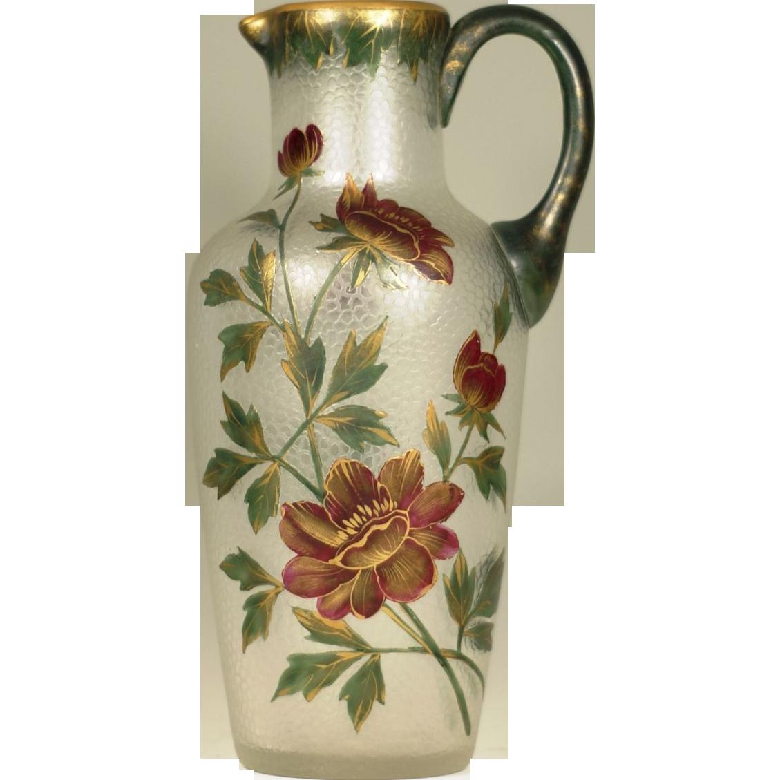 Baccarat Art Nouveau c.1900 Acid Cut Back Cameo Glass Museum Quality