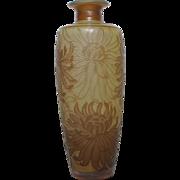 DeVez Art Nouveau Cameo Glass Vase Stunning!
