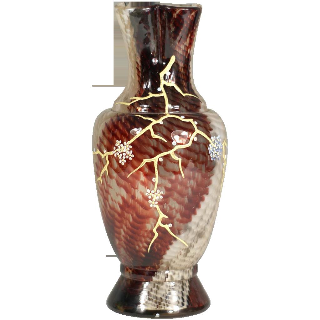 Ernest Baptiste Léveillé, Paris c. Art Glass Vase