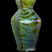 Rare Kralik Banded Iridescent Vase Loetz Era
