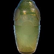 Legras Mont Joye Art Deco Cameo Vase