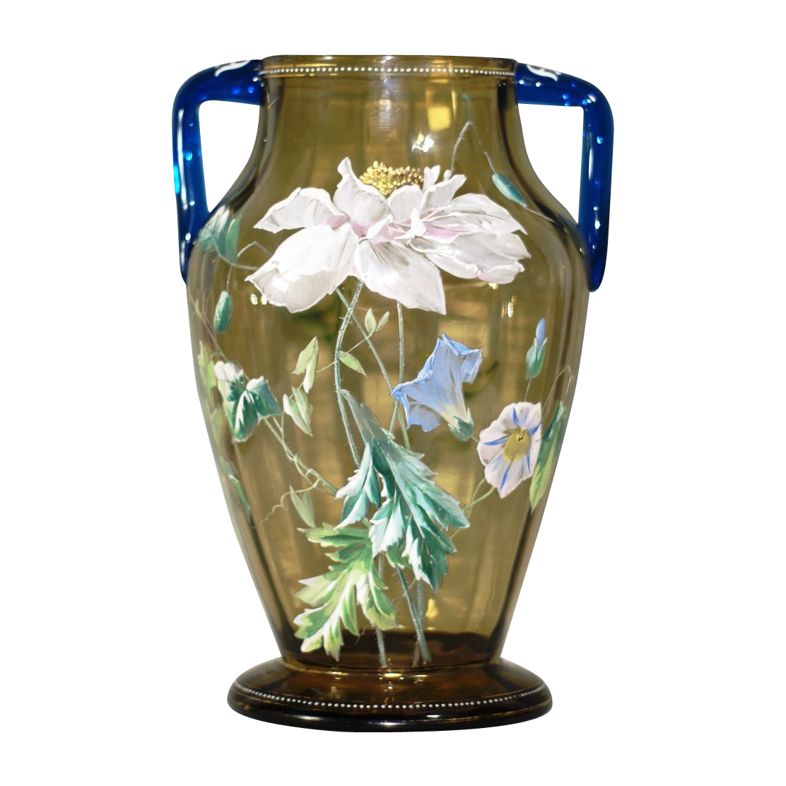 Large Moser or Harrach Decorated Vase