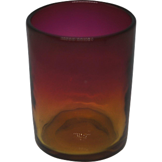 Mt Washington Rose Amber Amberina Toothpick holder