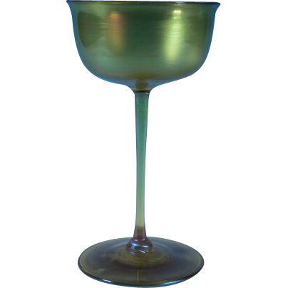 Louis Comfort Tiffany Favrile Champagne Glass